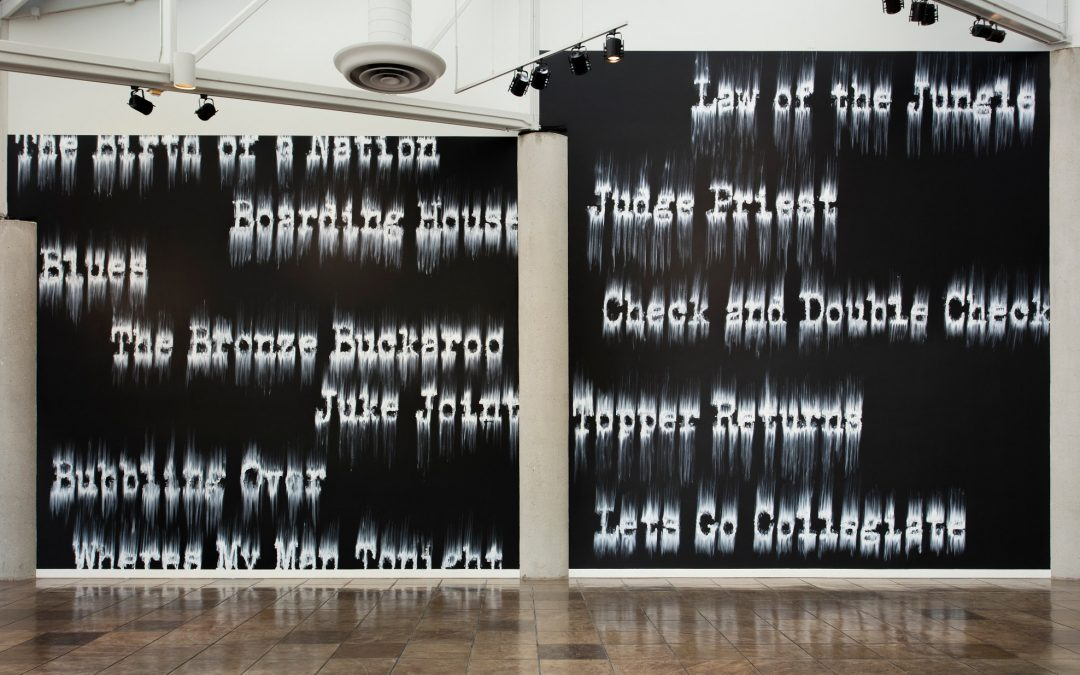 Gary Simmons: 'Fade To Black' & 'Balcony Seating Only' African American History & Memory Reimagined
