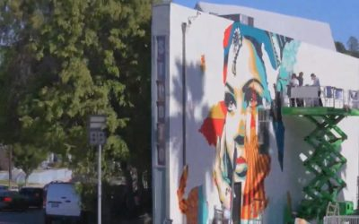 """Shepard Fairey & Vhils: """"American Dreamers"""" Up Against The Wall in Silver Lake"""