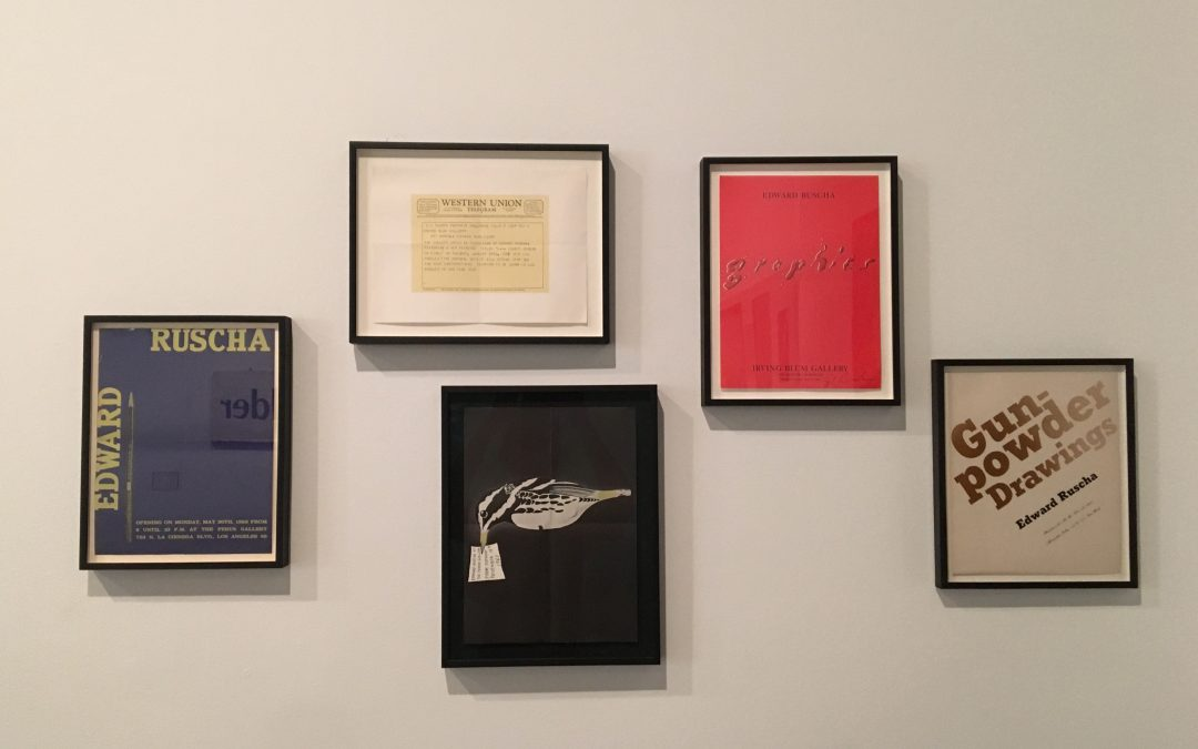 Ed Ruscha: 'Prints & Ephemera' The Ontological Nature of Words