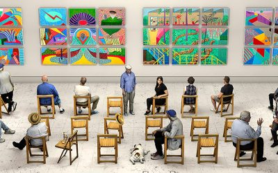 David Hockney: 'Something New in Painting (and Photography) [and even Printing] . . . Continued Studying and Observing the Diversity of Mankind …