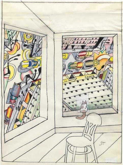 "Pace Gallery Presents Online Exhibition ""Saul Steinberg: Imagined Interiors"""