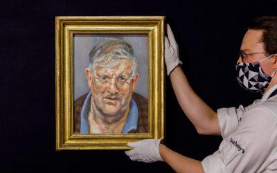 Lucian Freud Portrait Of  David Hockney Sells For £14.9m $20.7m At Sotheby's